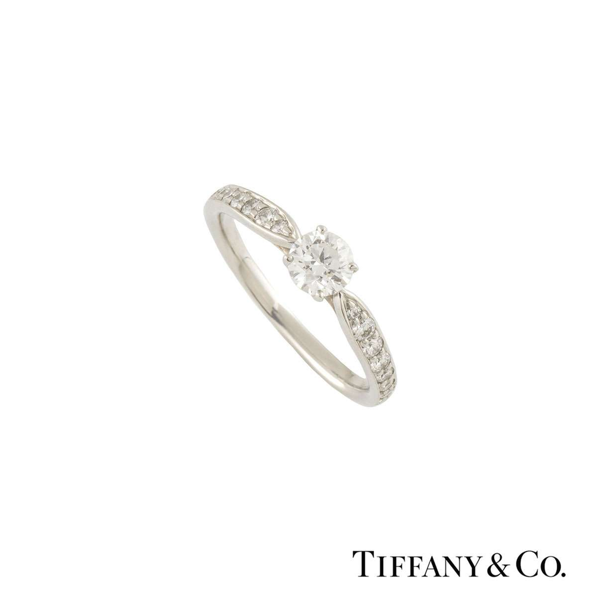Tiffany Harmony Diamond Ring 0.32ct F/VS2